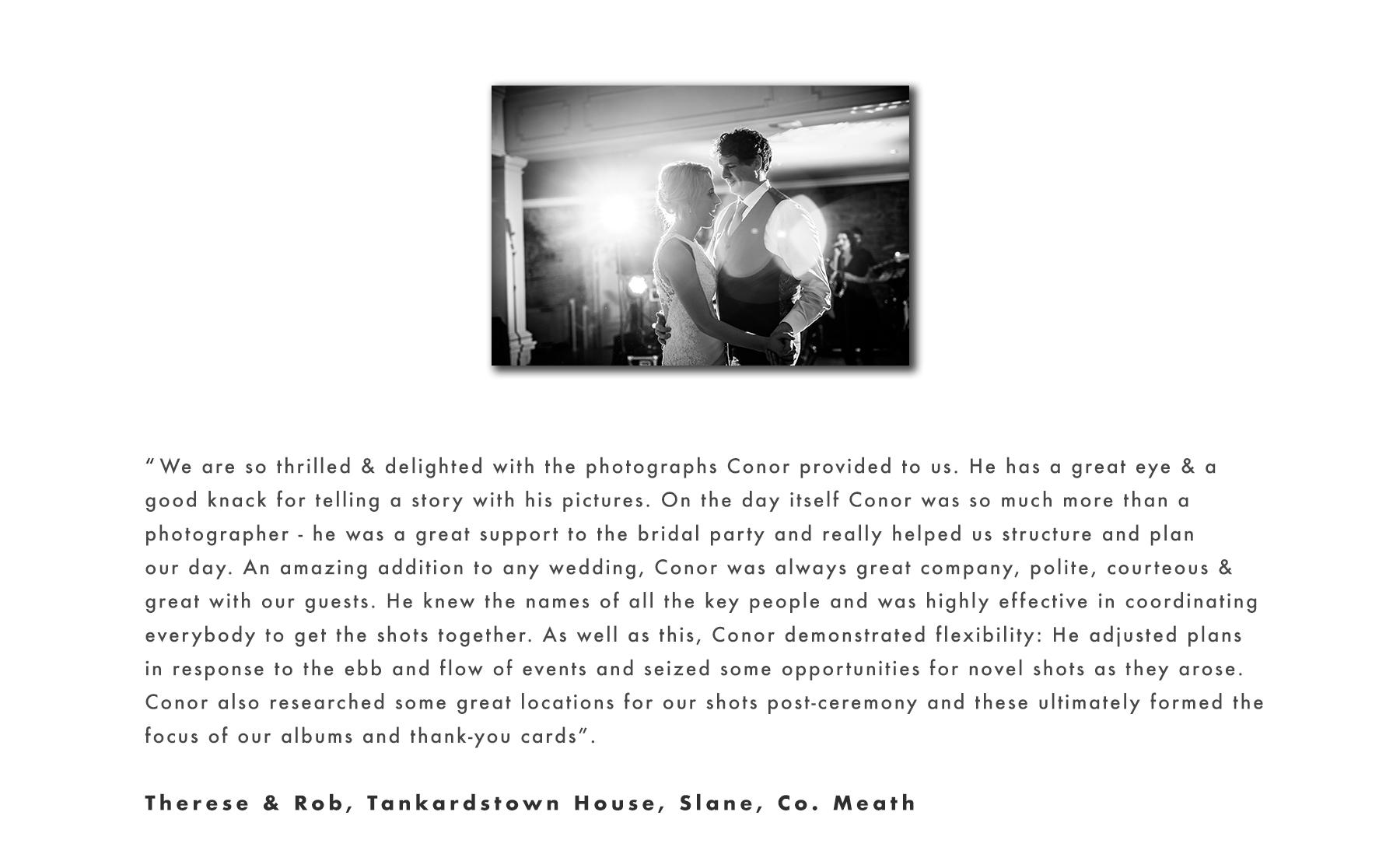 Rob & Therese testimonial2